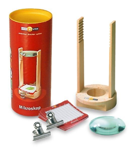 Kinder-Mikroskop aus Buchenholz