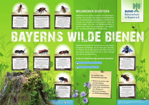 """Plakat """"Bayerns wilde Bienen"""""""