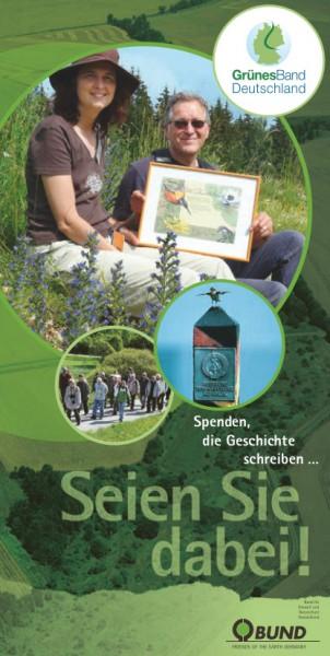 """Faltblatt """"Seien Sie dabei - Grünes Band"""""""