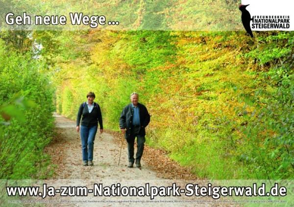 "Plakat ""Geh neue Wege"""