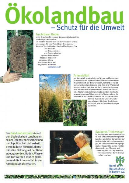 """Plakat """"Ökolandbau - Schutz für die Umwelt"""""""