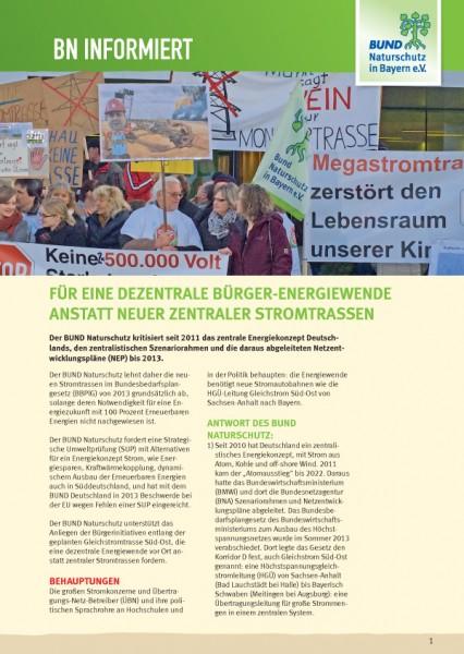 "BN informiert ""Dezentrale Bürger-Energiewende"