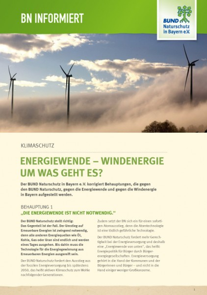 "BN informiert ""Energiewende - Windenergie."