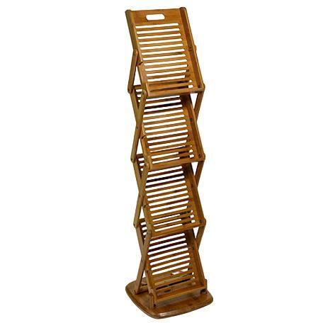 Faltbarer DIN A4-Prospektständer aus Bambus
