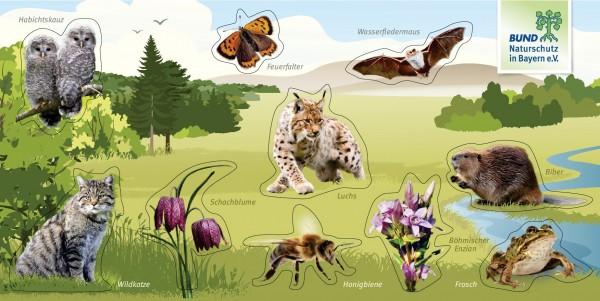 """Aufkleberbogen """"Tiere+Pflanzen"""""""