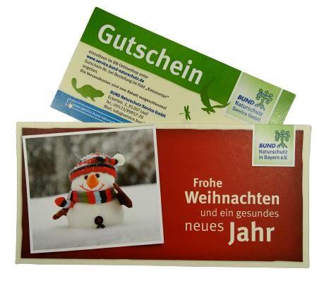 """Gutschein mit Karte """"Weihnachten"""""""