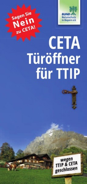 """Faltblatt """"CETA  - Türöffner für TTIP"""""""