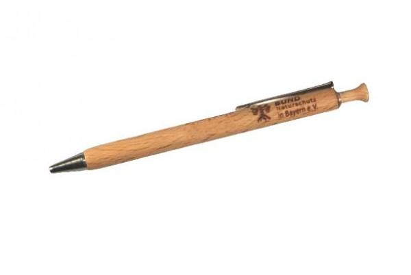 Holz-Kugelschreiber mit BN-Gravur