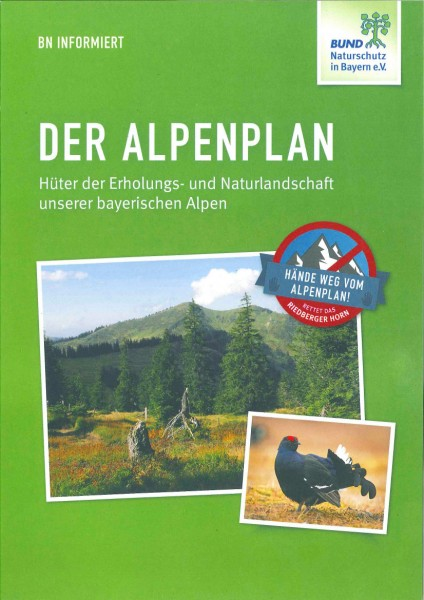 "BN informiert ""Der Alpenplan"""