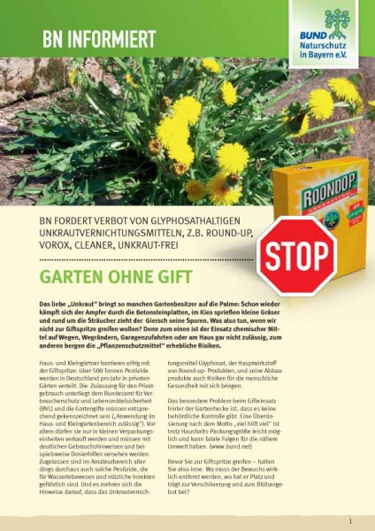 "BN informiert ""Garten ohne Gift"""