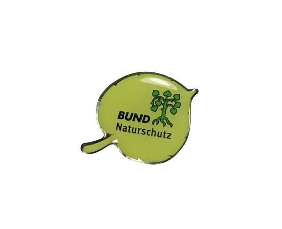 """Pin """"Lindenblatt mit BN-Logo"""""""