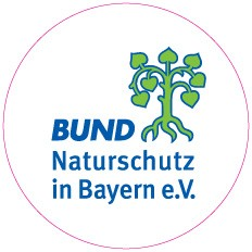"""Aufkleber """"BN-Logo"""" rund, weiß"""