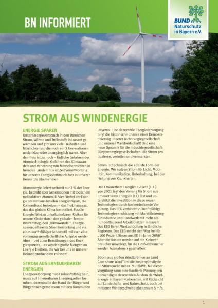 """BN informiert """"Strom aus Windenergie"""""""