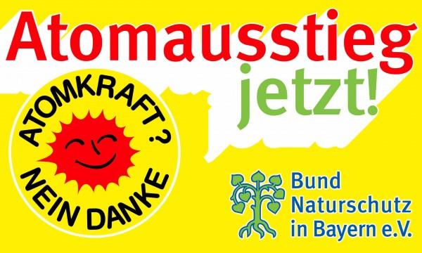"""BN-Fahne """"Atomausstieg jetzt!"""" klein"""