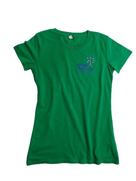 T-Shirt mit BN-Logo, Damen grün