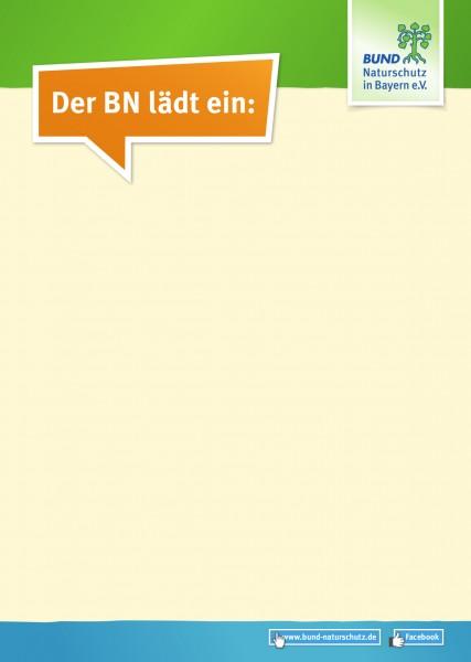 """Plakat """"Der BN lädt ein"""""""