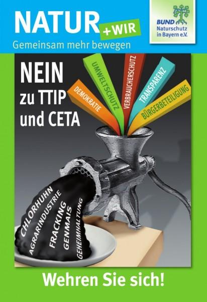 """Natur+Wir, 3/2015 """"Nein zu TTIP und CETA"""""""