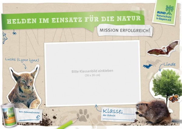 """HuS-Plakat """"Helden im Einsatz für die Natur"""""""