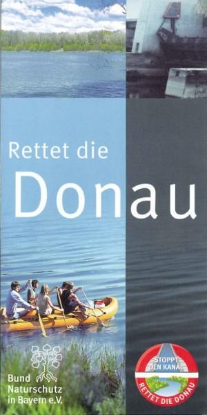"Faltblatt ""Rettet die Donau"""