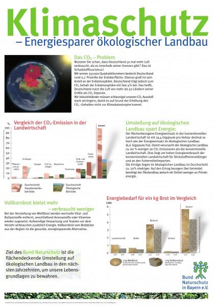 "Plakat ""Klimaschutz - Öko-Landbau"