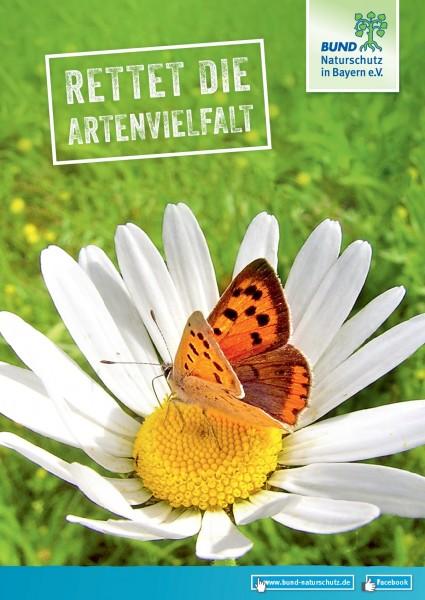 "Plakat ""Rettet die Artenvielfalt"""