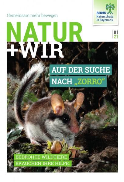 """Natur+Wir, 1/2021 """"Bedrohte Wildtiere"""""""