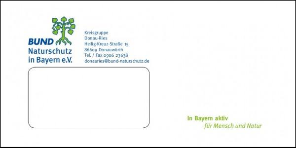 Kuvert DINlang individuell mit Fenster