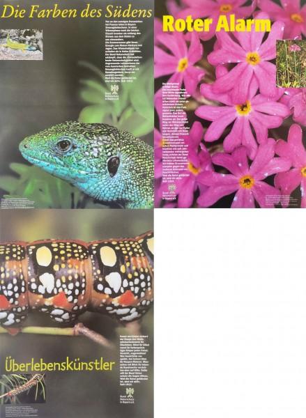 """Plakatserie """"Artenvielfalt"""" (4 x DIN A3)"""