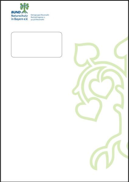 Kuvert C4 individuell mit Fenster