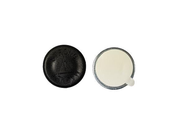 Magnet mit selbstklebendem Gegenstück rund